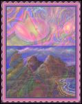 Psychedelic Landscape Painting by StephenL