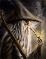 Gandalf under the stars by Artofjuhani