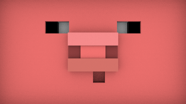 minecraft pig by blackoptics8