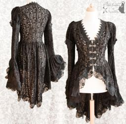 Blouse black lace, Somnia Romantica by M. Turin by SomniaRomantica