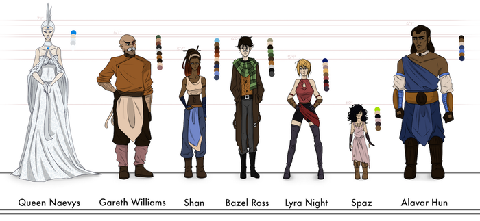 Shan: Character Lineup (WIP) by LivingAliveCreator