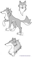 The Silver She-Wolf by wolfsilvermoon