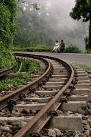 Toy train tracks by bingbing51