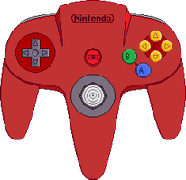 Nintendo 64 Controller [Red] by BLUEamnesiac