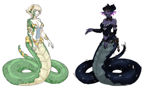 [CLOSED] - MONSTER GIRL ADOPTABLES - NAGA by FlareViper