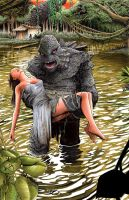Creature from the Black Lagoon commission by Shawn-Langley