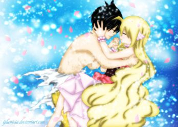 Zeref, Mavis (Fairy Tail, chapter 537) by iPhenixia