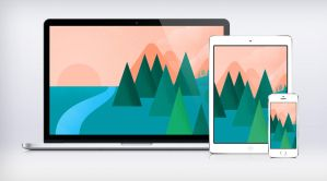 Google I/O Landscape Wallpaper Material Design by JasonZigrino