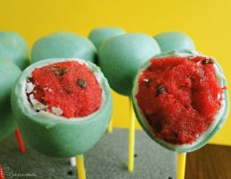 Watermelon Truffles by cakecrumbs