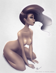 Naked woman by Phil-G-Ramsay