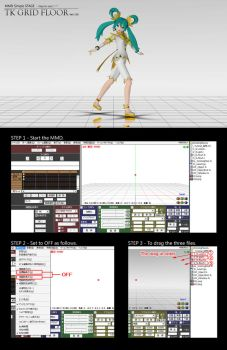 MMD Simple STAGE : TK GRID FLOOR Ver1.02 DL by TOUKO-P