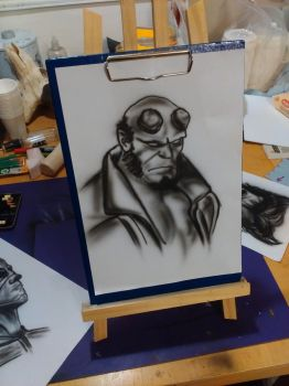 Hellboy airbrush by KilledCZ