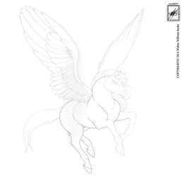Ms. Pegasus  in Outlining progress :3 by wsache007