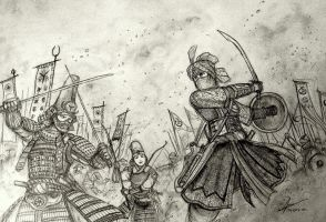 The Minamori Sisters vs Sheikha Ahu Durquba by Gambargin