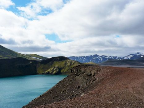 Islande - Crater Lake 1.0 by Sue-Name