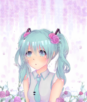 Miku flowers by MiI0
