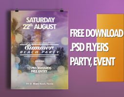 Flyers free .PSD - SUMMER BEACH PARTY by yAx by yax94470