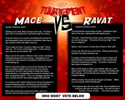 Tournament Exhibition Match:  Mace vs Ravat by Dreamkeepers