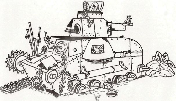 Destroyed Type 95 Ha-go by Kev002