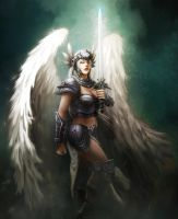 Commission : Valkyrie by CELENG
