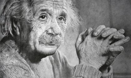 Albert Einstein by SamBrownArt