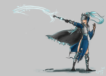 Silver Lunari Diana Concept Art (Skin Idea) by NightLite27