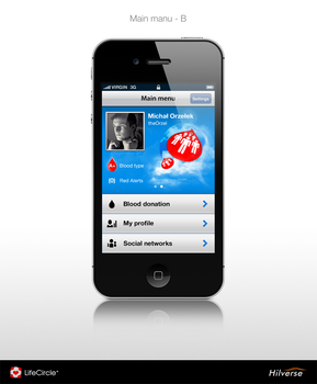 iPhone App - MainPage by theOrzel