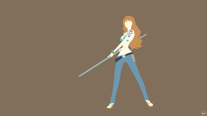 Nami (One Piece) Minimalist Wallpaper by greenmapple17