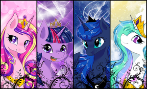 [MLP] Bookmark Princesses series. by yoonny92
