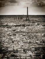 Paris from Le Sacre Coeur by imperterrito
