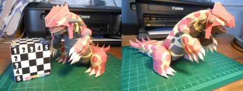 Primal Groudon Papercraft by gardevoir7