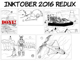 Inktober 2016 Redux Announcement by doktorno