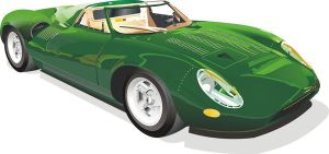 Classic jag sports car by Rikko40