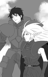 Parn/Deedlit - The Record of Lodoss War by ktou