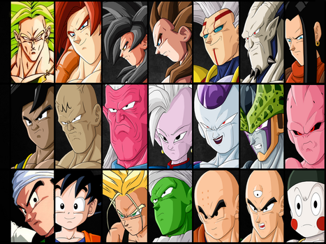 All Best Characters of Dragon Ball || Nola - TGA by TheGraphicsArts