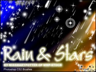 FREE BRUSHES, Rain and Stars by mmp-stock
