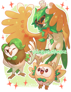 Rowlet Evolution line by vapidity
