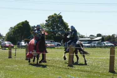 Sir Justin and Darrell Bossley. JOUSTING by scratzilla