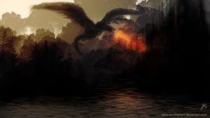 Balerion the Black Dread by DarthTemoc