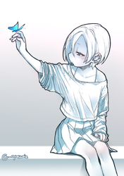 koume and butterfly by momoquest