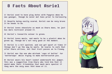 8 Facts About Revenantale Asriel by GhostLiger