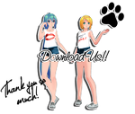 GIFT +151 Watchers!!! TDA Casual Miku and Rin by Espirea