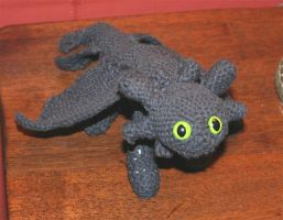 Toothless Crochet Pose 1 by shortyowly
