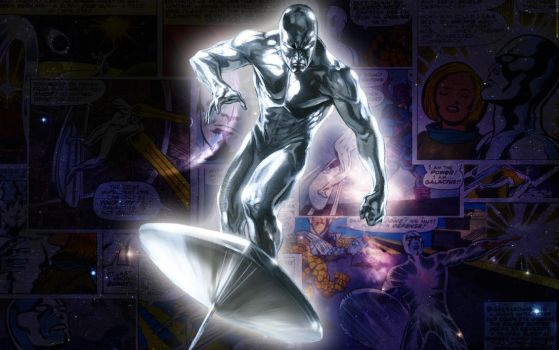 Silver Surfer Comic Wallpaper by majunua