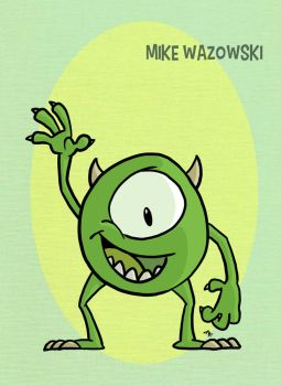 Pixar Madness Month - Day 25 - Mike Wazowski by tyrannus