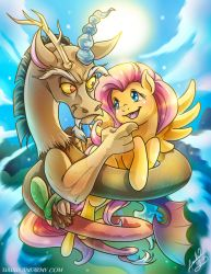 Discord and Fluttershy by Amelie-ami-chan