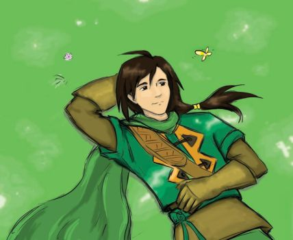 Felix and the butterfly by Rani-channi