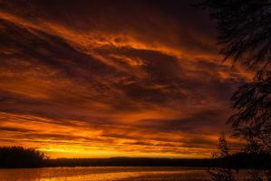Burning sky by mabuli