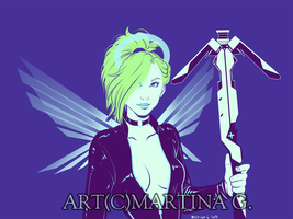.Commission: cyberpunkmercy. by Martina-G