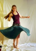 Painted Dance Skirt - Spinning by Goldenspring